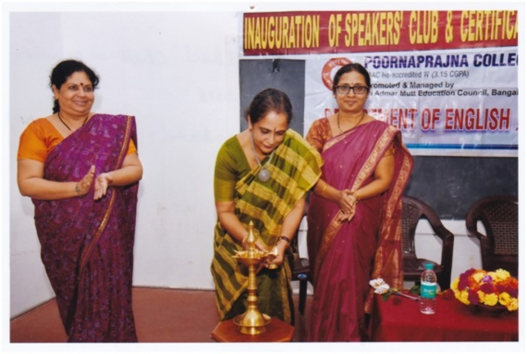 Inaugurating certificate course in English