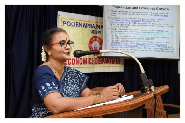 Guest lecture on account of World Population Day organised by Economics Department on 11th July 2019