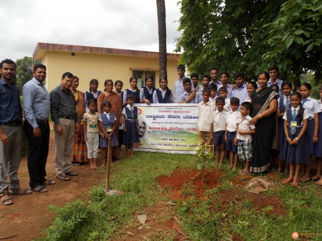 Celebration of VAnamahotsava at  Govt. Primary School Kukkikatte, Udupi