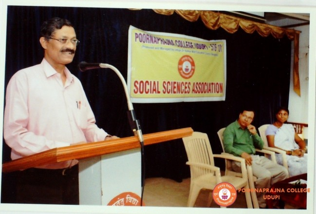 Special talk on Importance of Social Science by Dr, Y R Rao on March 2016