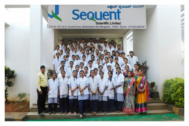 Industrial visit to Sequent,  Mangalore