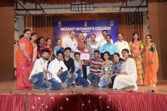 Overall prize winner in  National Level Inter-Collegiate UG/PG Fest