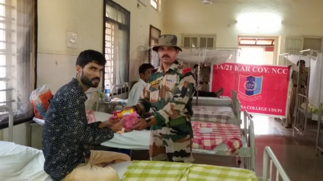 Fruit Distribution at Govt Hospital