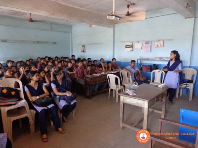 Out reach programme  at Nirmala  English Medium High School , Bhramavar