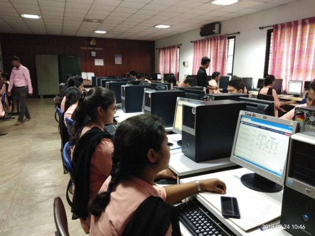 Odessa Ltd from Bangalore conducted online aptitude test to Final m.com students as a part of campus placement drive.